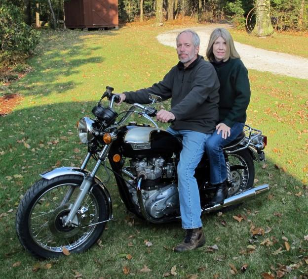 Doug & Sue on Triumph