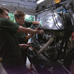Triton Rebuild with KickMagic Starter at Classic Bike Experience, Essex, Vermont